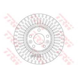 Тормозной диск (TRW/Lucas) DF6208S