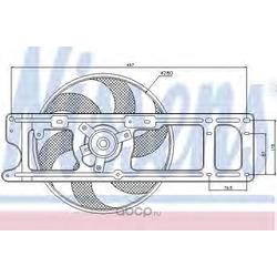Вентилятор, охлаждение двигателя (Nissens) 85253