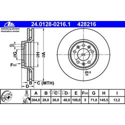 Тормозной диск (Ate) 24012802161
