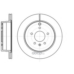 Тормозной диск (Remsa) 6118210