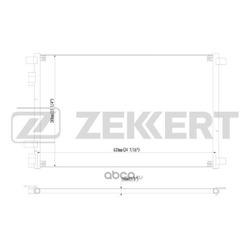 Радиатор кондиционера (Zekkert) MK3045
