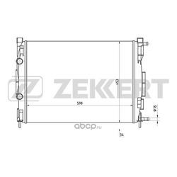 Радиатор, охлаждение двигателя (Zekkert) MK1176