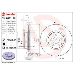 Тормозной диск (Brembo) 09A62111