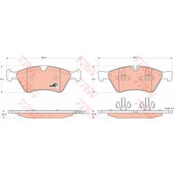 Колодки тормозные передние (TRW/Lucas) GDB1642