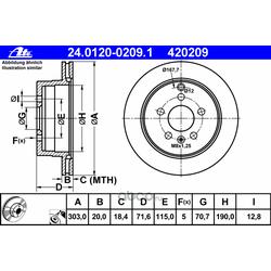 Тормозной диск (Ate) 24012002091