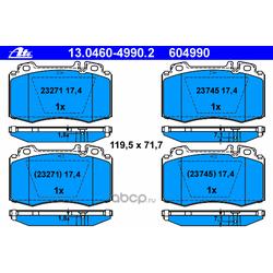 Комплект тормозных колодок, дисковый тормоз (Ate) 13046049902