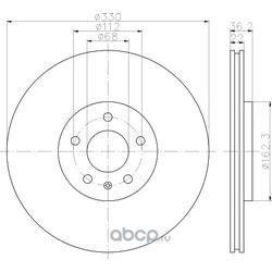 Тормозной диск (Hella) 8DD355118021