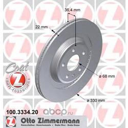 Тормозной диск (Zimmermann) 100333420