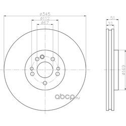 Тормозной диск (Hella) 8DD355107211