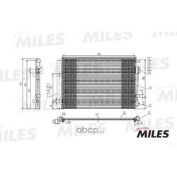 Конденсер HYUNDAI SOLARIS / KIA RIO 1.4/1.6 10- (Miles) ACCB002