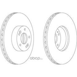 Тормозной диск (Ferodo) DDF1631