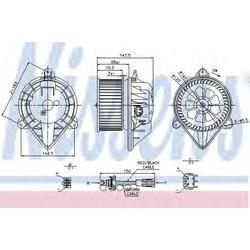 Вентилятор салона (Nissens) 87024