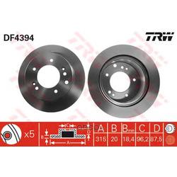 Тормозной диск (TRW/Lucas) DF4394