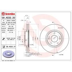 Тормозной диск (Brembo) 09A53221