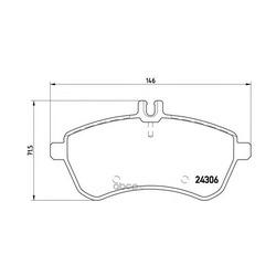 Комплект тормозных колодок, дисковый тормоз (Brembo) P50070