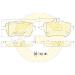 Комплект тормозных колодок (Girling) 6120141