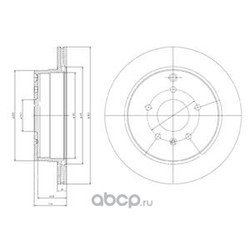 Тормозной диск (Delphi) BG4069