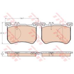Комплект тормозных колодок, дисковый тормоз (TRW/Lucas) GDB2013