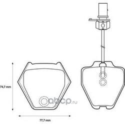 Комплект тормозных колодок, дисковый тормоз (Jurid) 573064J