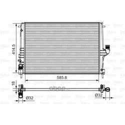 Радиатор (Valeo) 735635