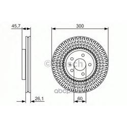 Тормозной диск (Bosch) 0986479666