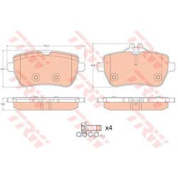 Комплект тормозных колодок (TRW/Lucas) GDB2014