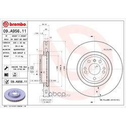 Тормозной диск (Brembo) 09A95611