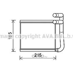 Теплообменник, отопление салона (Ava) HY6393