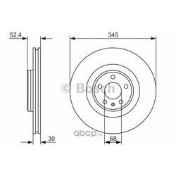 Тормозной диск (Bosch) 0986479747