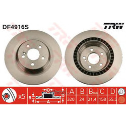 Тормозной диск (TRW/Lucas) DF4916S