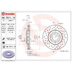 Тормозной диск (Brembo) 0970111X