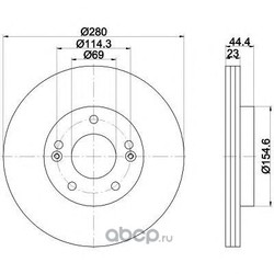 Тормозной диск (Mintex) MDC2392