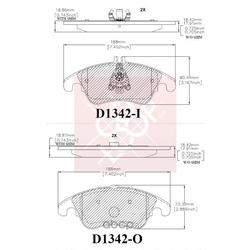 Дисковые тормозные колодки (Friction Master) ELT1342