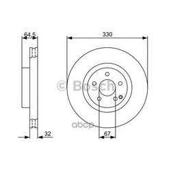 Диск тормозной вентилируемый (Bosch) 0986479332