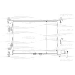Радиатор (FREE-Z) KK0223