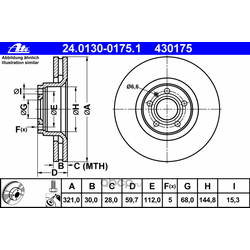 Тормозной диск (Ate) 24013001751
