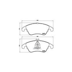 Комплект тормозных колодок, дисковый тормоз (Brembo) P50069