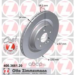 Тормозной диск (Zimmermann) 400366120