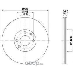 Диск тормозной TEXTAR (Textar) 92168503