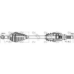 Приводной вал (GSP) 250405
