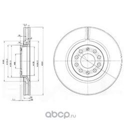 Тормозной диск (Delphi) BG3714