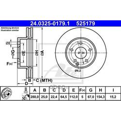 Тормозной диск (Ate) 24032501791