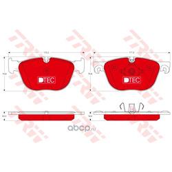 Комплект тормозных колодок, дисковый тормоз (TRW/Lucas) GDB1726DTE