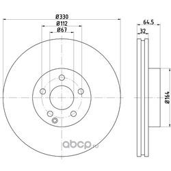 Тормозной диск (Hella) 8DD355109431