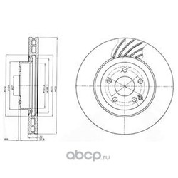 Тормозной диск (Delphi) BG3877