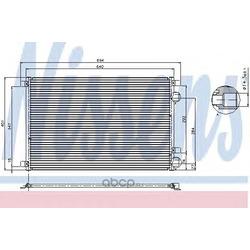 Радиатор кондиционера (Nissens) 94626