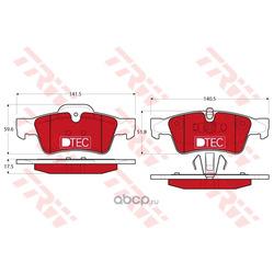 Комплект тормозных колодок, дисковый тормоз (TRW/Lucas) GDB1643DTE