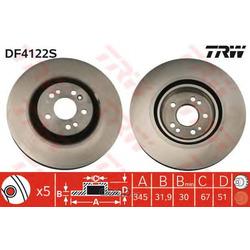 Тормозной диск (TRW/Lucas) DF4222S