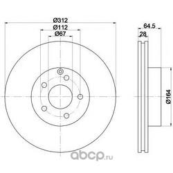 Тормозной диск (Textar) 92115300