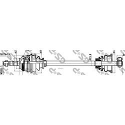Приводной вал (GSP) 250314